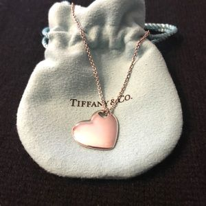 Tiffany & Co cut out heart pendent necklace